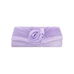 $enCountryForm.capitalKeyWord UK - Oeak Clutch Bag Woman Shoulder Strap Handbag Satin Flower Decoration Solid Color Clutch Bag Evening Party