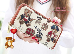 $enCountryForm.capitalKeyWord Australia - Free shipping High quality England women Cartoon Bear lovely long wallet Coin pures pirate luxury designer zipper Gift billfold bag 003