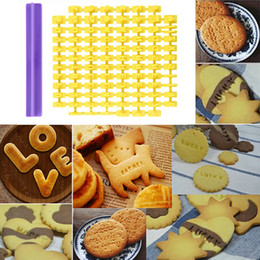 $enCountryForm.capitalKeyWord Australia - New Cookie Biscuit Stamp Embosser Cutter Cake Fondant DIY Molds Alphabet Cookie Mold Cutters Number Letter Impress Set