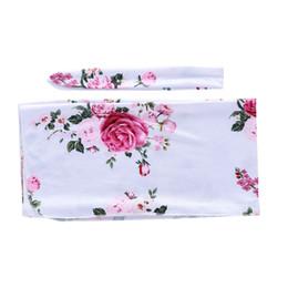 $enCountryForm.capitalKeyWord UK - Baby Girl Print Blanket Baby Swaddles For Newborn Kids Blankets Girl Infant Flower Wrap Bag Scarf 19