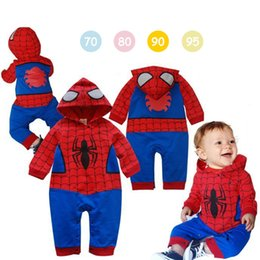 spiderman wholesale coats 2019 - Spiderman Boys Coat 6 styles Kids Spring Jacket Chirdren Lovely hoodies Outerwear spiderman Boys Clothes baby jumpsuits