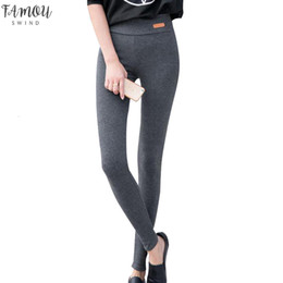 Wholesale thick warm leggings resale online - Fashion New High Elastic Waist Active Winter Plus Thicken Womens Leggings Warm Pants Good Quality Female Thick Trousers