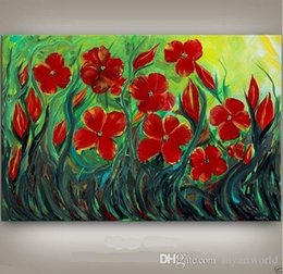 oil painting contemporary arts Canada - Framed Flower ART Large Flower Painting CONTEMPORARY Abstract Art Decor Oil Painting On Quality canvas Free Shipping,Multi sizes Ab054