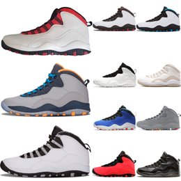 d301c4d0b2e969 Mens basketball shoes 10 Westbrook Tinker 10s mens shoes Cement Cool Grey  black Bobcats GS Fusion Red Steel Grey trainers sports sneakers