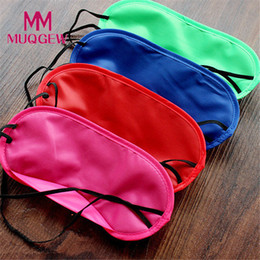 $enCountryForm.capitalKeyWord Australia - MUQGEW 1PC New Pure Silk Sleep Eye Mask Padded Shade Cover Travel Relax Aid Eye Patch Sleeping Mask Case Party Masks