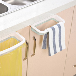 Bag Clips Kitchen Door Back Trash Rack Storage Garbage Bag Holder Kitchen Cabinet Bathroom Shelf Stander Storage Hanging Trash Rack from genuine soft leather handbags suppliers