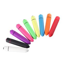 Vibromasseur mini-balle puissant à 10 fréquences vibrant imperméable à l'eau vibromasseur de stimulateur de point G de clitoris-gode vibrateur de sexe pour les femmes en Solde