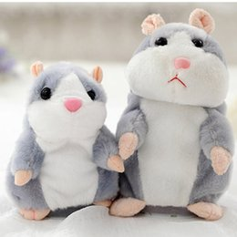 talking bear toy Australia - Sweet Talking hamster Speak Sound Recording Repeat Plush kawaii hamster animal Toys