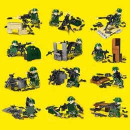 $enCountryForm.capitalKeyWord Australia - 12pcs set Military Camouflage Soldiers Guard Scene Building Blocks Figures Bricks Models Toys Children Gift Toys