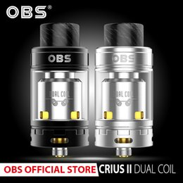 obs vape tank Australia - Original OBS Crius 2 Dual Coil RTA Atomizer with 4ml rebuildable tank and resin drip tip vape E- Cigarettes vaporizer