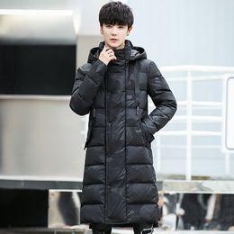 White extra long coat online shopping - 2019 winter degree jacket for men extra thick wind breaker long coat men camouflage men s new white duck down jacket snow coat