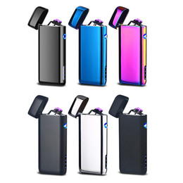 Alloy Piping Australia - Newest Colorful Zinc Alloy USB ARC Windproof Charging Lighter Portable Innovative Design For Cigarette Bong Smoking Pipe High Quality DHL