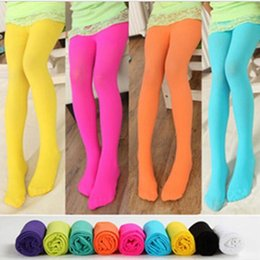$enCountryForm.capitalKeyWord Canada - Kids Designer Clothes Girl Velour Leggings Ballet Dance Pantyhose Candy Color Tights Skinny Casual Pants Stockings Fashion Trousers A5395