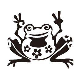 $enCountryForm.capitalKeyWord UK - Frog Peace Sticker Window Cute Car Truck Bumper Waterproof Car Decoration Accessory Personality