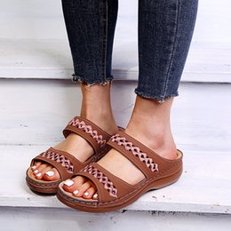 thick sole sandals Australia - 2020 Fashion Sandals Women Summer Shoes Casual Woman Sandals Thick Sole Plus Size 42 A2433