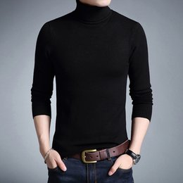 $enCountryForm.capitalKeyWord NZ - 2019 Fashion Brand New Turtleneck Sweater Men Mens Pullover Slim Fit Jumpers Knitred Autumn Casual Men Clothes Pull Homme
