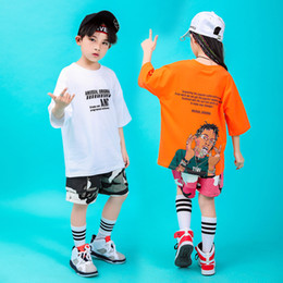 $enCountryForm.capitalKeyWord Australia - Kid Cool Hip Hop Clothing Print Running T Shirt Camouflage Shorts for Girls Boy Jazz Dance Costume Ballroom Dancing Clothes Wear