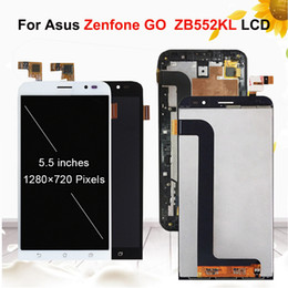 "lcd screen for asus NZ - 5.5""LCD Display For Asus Zenfone GO ZB552KL X007D Touch Screen Digitizer Assembly Replacement Parts Black White With Frame"