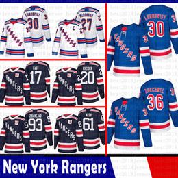 New York Rangers 30 Henrik Lundqvist Hockey Jersey 36 Mats Zuccarello 61  Rick Nash 27 Ryan McDonagh 20 Chris Kreider Jesper Fast Zibanejad 4e2ead435