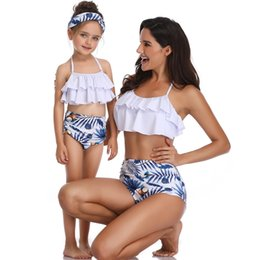 Swimwear Infant Australia - 2019 Matching Family Mother Girl Bikini Swimsuit Swimwear Women Swimsuit Children Baby Kid Beach Swimwear bikini infants