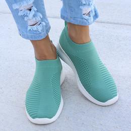 Nouveau Chaussures Femmes Chaussures Casual Chaussette Chaussette À Tricoter Baskets Slip On Stretch Femme Loisirs Appartements De Mode Plus La Taille en Solde