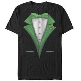 $enCountryForm.capitalKeyWord Australia - Lost Gods St. Patrick's Day Tuxedo Fancy Costume Tee Mens Graphic T Shirt knitted comfortable fabric top Quality Cotton