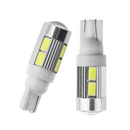 925ee5da29 lámpara t10 YCCPAUTO T10 LED 194 W5W Luces de la matrícula del automóvil  Luz de señal de giro Bombilla blanca 5630 SMD Lado del proyector del ...