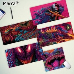 free desk pad NZ - Maiya Custom Skin Games CS GO Hyper Beast Gaming Player desk laptop Rubber Mouse Mat Free Shipping Large Mouse Pad Keyboards Mat
