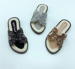 $enCountryForm.capitalKeyWord Canada - Summer Girls slippers shining kids rhinestones princess sandals children non-slip outdoor shoes girls hollow breathable beach slippers F6318