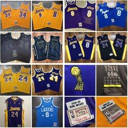 2020 new Authentic Mitchell & Ness Los AngelesLakersKobeBryant60th824nba Swingman Basketball Jerseys