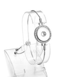 $enCountryForm.capitalKeyWord Australia - New Snap Button Bracelet Bangles Designs Crrystal Button Chain Bracelet for Men Women Adjustable Silver Snap Bracelet