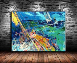 sailing ocean painting Australia - Ocean Sailing , Canvas Painting Living Room Home Decor Modern Mural Art Oil Painting