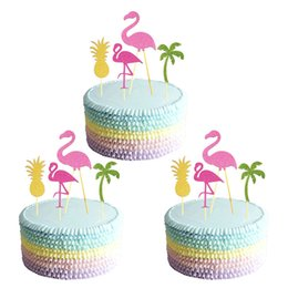 $enCountryForm.capitalKeyWord Australia - topper picks 12pcs Flamingo Party Cupcake Toppers Birthday Cakes Topper Picks Wedding Birthday Party Decoration Baby Shower Supplies Gifts