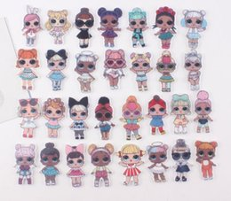 Wholesale Cute girl flat back planar resin style kawaii cartoon princess for kids diy decoration crafts accessories