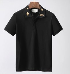 China designer Mens brand polo t-shirt fashion luxury clothing t shirt embroidery tiger cat snake BEE animal flowers geometry Tshirt tee top supplier blue bee flowers suppliers