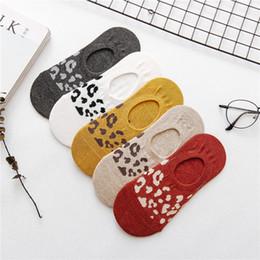 $enCountryForm.capitalKeyWord Australia - 5 pairs lot 2019 Harajuku Calcium Leopard Invisible Boat Socks Female Casual Thin Section Silicone Non-Slip Cotton Woman Socks