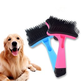 Plastic Detangling Brushes Australia - Soft Pet Brush for Dogs and Cats with Long or Short Hair,Great for Detangling and Removing Loose Undercoat or Shed Fur