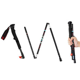 $enCountryForm.capitalKeyWord UK - Black Ultra Short Mountaineering Folding Stick Carbon Climbing Folding Cane Easy To Carry High Quality Apply For 37CM TO 130CM