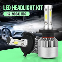 $enCountryForm.capitalKeyWord NZ - H4 HB2 9003 LED Headlight Kits-Flip COB Chips 6000K-Low Beam Fog Light 100W White