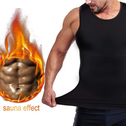 $enCountryForm.capitalKeyWord Australia - Men's Sweat Vest Body Shaper Shirt Neoprene Waist Trainer Running Vests Thermo Slimming Sauna Suit Weight Loss Black Shapewear