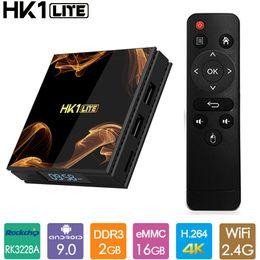 Wholesale HK1 LITE TV BOX Android 9.0 Rockchip RK3228A Smart tv box Quad core 4K 2.4G Wifi 2GB 16GB Set top box