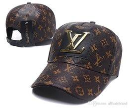 2019 França marca V uitton mens designer chapéus bonés de beisebol de couro de luxo senhora moda chapéu camionista casquette mulheres causal bola cap em Promoção