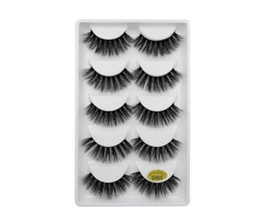 $enCountryForm.capitalKeyWord Australia - 3D Mink Eyelash 5 pairs False Eyelashes Handmade Nature Long Fake Eye Lashes Extension Eyelash Hair