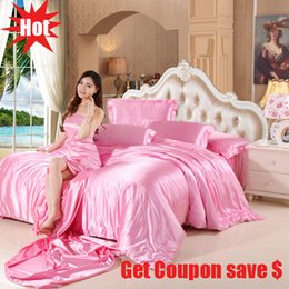 $enCountryForm.capitalKeyWord NZ - Free shipping solid color double-color stitching imitate silk bedding set 3 or 4pcs bed sheet pillowcase duvet cover sets