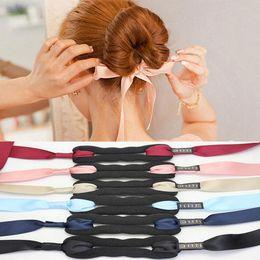 $enCountryForm.capitalKeyWord Australia - Fashion Women Hair Accessories Hair Curls Bun Head Band Magic Hair Making Tool Ribbon Bowknot Bun Maker New