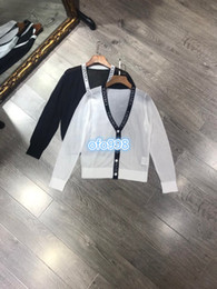 $enCountryForm.capitalKeyWord Australia - Women girls tops jacket with hat Jackets coat v neck letter printing pattern Long sleeve Breathable Long sleeve knitting Cardigan coat tops