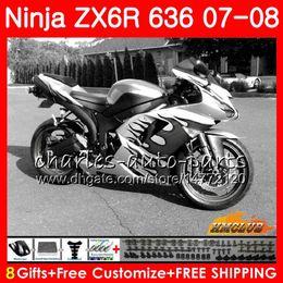 $enCountryForm.capitalKeyWord Australia - Bodys For KAWASAKI NINJA ZX 636 ZX-600 ZX-6R ZX636 2007 2008 34NO.114 ZX 6R 6 R 07 08 ZX600 600CC ZX-636 ZX6R black flames 07 08 Fairings