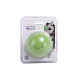 Silicone Toys Australia - 10PCS Dog Toys Dog Bite Resistant Solid Ball Bouncing Ball Pets Advanced Rubber Silicone Dog Interactive Toys Silicone 2 Packaging