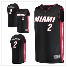393907bf1 custom 2019 Men's Heat 2 Wayne Ellington Fanatics Branded Black Fast Break  Replica Player Miami women kids Jersey