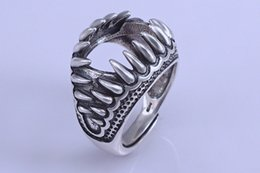 Rings bases online shopping - 15 mm STERLING SILVER men women Semi Mount Bases Blanks base blank Pad ring Setting jewelry findings diy dragon claw A2571